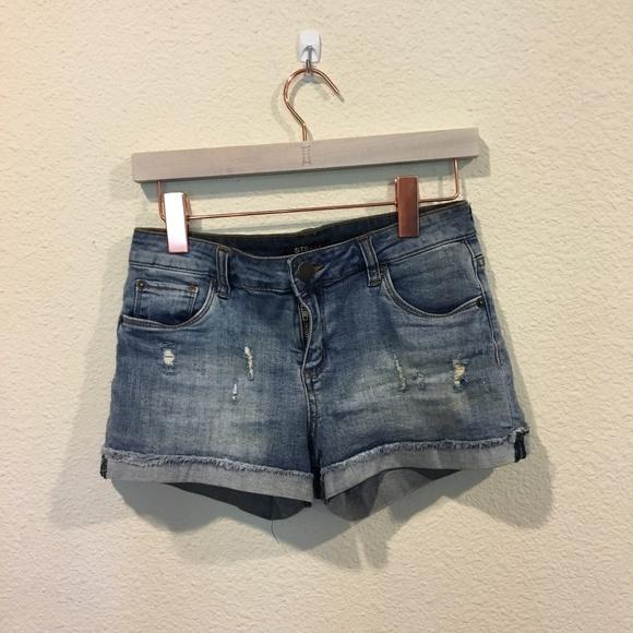 STS Blue Pants - STS Blue raw cuffed hem boyfriend shorts